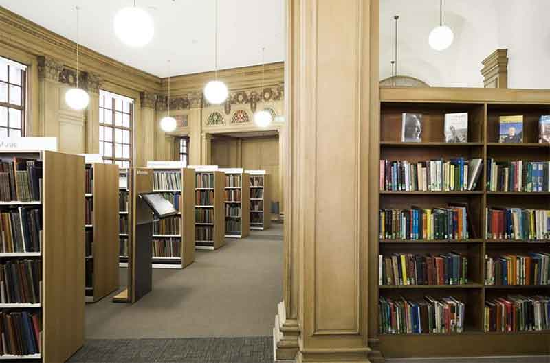 The interior of Manchester Central Library