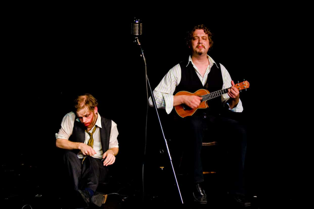 Louis and Richard at the Edinburgh Fringe 2008